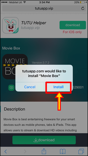 How to Download MovieBox on iPhone, iPad with Tutu App - No