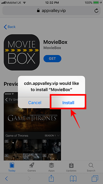 Download Movie Box on iPhone, iPad with AppValley – No